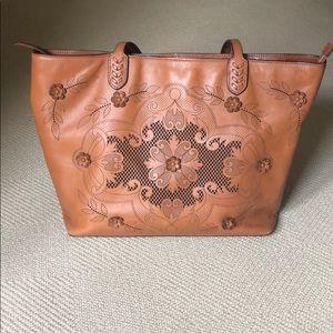 Brighton Brown Leather Tote